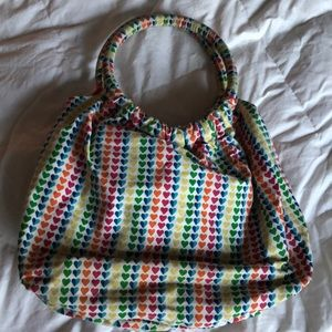 Handbags - Adorable heart bag / purse! Fruits, LBG, washable